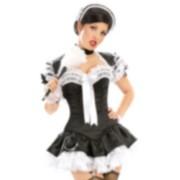 Cute Lace Paris Maid Corset Costume