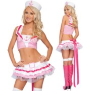 Sweet Acrylic Sailor Costume with Hat-PINK
