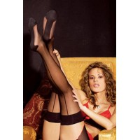 Mysterious Nylon Silk Stocking - BLACK
